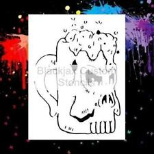Beer Mug Skull Design  Airbrush Stencil,Template