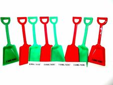 36 Mix Red & Green Small Toy Shovels & 36 I Dig You Stickers Mfg USA  Lead Free*