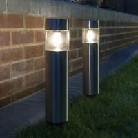 Solar Power Stainless Steel LED Bollard Path Light | Outdoor Walkway Garden