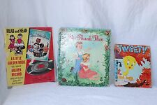 Vintage Children's books TWEETY WE THANK THEE THREE LITTLE KITTENS Free Shipping