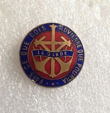 VINTAGE pin badge France Fais Ce Que Je Dois Advienne Que Pourra LA GARDE ENAMEL