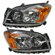 Front Headlight Headlamp Light Lamp Pair Set for 09-12 Toyota Rav4