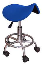 Sgabello a sella ergonomico GB blu con ruote regolabile in altezza da 45-60 cm