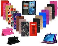 For Nokia 5.1 New Black Pink Blue Leather Wallet Phone Case Cover + Screen Glass