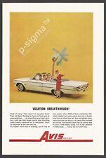 AVIS Rent-a-Car 1962 Vintage Print Ad
