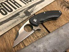 BROUS BLADES SILENT SOLDIER CARBON FIBER FLIPPER KNIFE (SATIN)