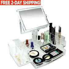 Luxury Cosmetic Jewelry Makeup Organizer Storage Vanity Beauty Display Case