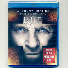 Rite 2011 thriller exorcism movie, new Blu-ray Anthony Hopkins exorcist R. Hauer