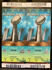 Super Bowl LI MINT CONDITION Tickets