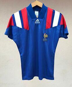 FRANCE NATIONAL TEAM 1992/1994 HOME FOOTBALL SOCCER SHIRT JERSEY CAMISETA ADIDAS