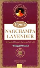 """LAVENDER"" PPURE NAG CHAMPA NATURAL MASALA INCENSE STICKS (12x15g) 180g"