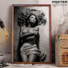 POSTER Moana Pozzi Pornostar Sexy Hot Hard Film Vintage Memory Tribute Fine Art