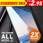 2 X Anti Scratch Tempered Glass Screen Protector Guard For iPhone X 8 7 6 S Plus