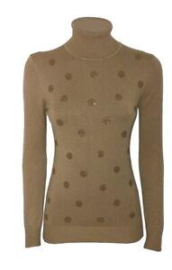 Maglione donna pullover collo alto basic maglia maniche lunghe nuovo Maglioncino