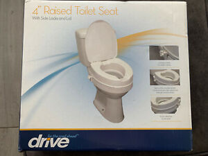 "Raised Toilet Seat with Lid 4"". Elevating Disability Aid"