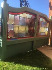 More details for stained glass pub leaded partition craft project