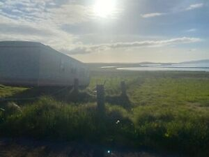 2 BED STATIC HOME/CARAVAN WITH HALF ACRE FREEHOLD LAND *SEA VIEWS *ORKENY ISLAND
