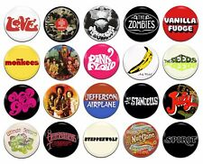 20x 60's Psychedelic Bands Artists [J-Z] 25mm / 1 Inch D Pin Button Badges