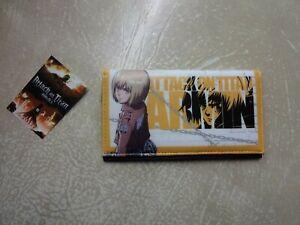 Attack On Titan Armin Arlert Anime & Manga Official Bi-fold Wallet