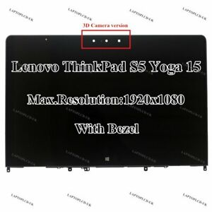 Lenovo Thinkpad S5 Yoga 15 00JT257 3D Cam FHD LCD Display Touch Screen Assembly