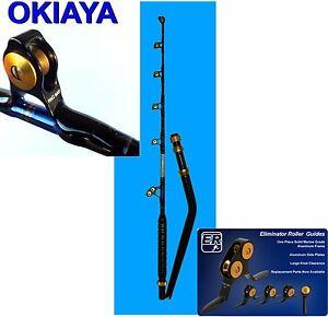 1OKIAYA PAC BAY BENT BUTT 80-130# VENOM PRO  Trolling Rod For PENN OR TIAGRA