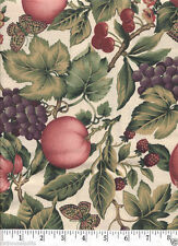 Summer Fruits Grapes Peaches Berries - NEW Quilt Fabric - 1/2 Yard Piece