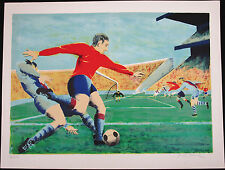 Pierre Charles BAYLE, Original Lithograph, Le Footballeur, Signed Numbered
