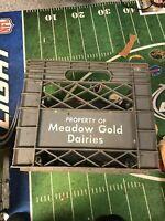 Grey Vintage Meadow Gold Dairies Plastic Crate good decor