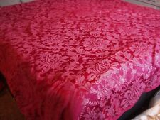 Super King Size Dark Red Duvet Cover and Pillow Cases  - (ref M109)