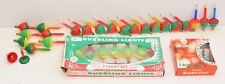 TESTED VTG Bubble Lites Christmas Lights NOMA Red Green Blue 32 Bulbs Total