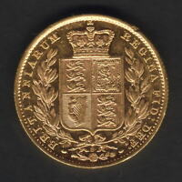 Australia.  1884 Sydney - Shield Sovereign..  Part Lustre..  EF/gEF