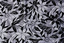 Wamsutta OTC 2 yds Black & White Daffodil Fabric Craft Sewing Quilting 45 x 75