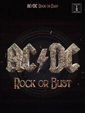 AC/DC ROCK OR BUST GUITAR TAB TABLATURE SHEET MUSIC SONG BOOK
