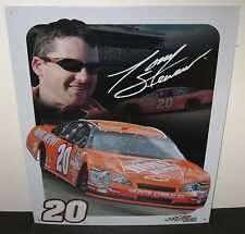 TONY STEWART # 20 HOME DEPOT 2006 CAR, WITH TONY'S SIGNATURE, METAL SIGN