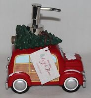 Envogue Red Car Truck Christmas Tree Holiday Soap Lotion Pump Dispenser New