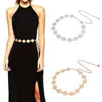 Fashion Metal Waist Chain Belt Gold Silver Buckle Body Chain Dress BeltsTRFR