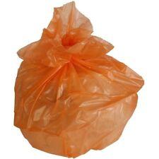 PlasticMill 42 Gallon, Orange, 3 MIL, 33x48, 50 Bags/Case, Garbage Bags.