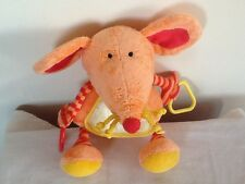 Little Jellycat - Mouse -  Baby Activity Toy  RATTLE Comforter VGC