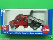 1:50 Siku Super Serie 3538 Transporter mit Pritsche Blitzversand DHL-Paket