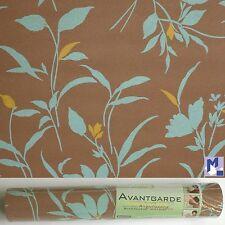 Sale! TAPETE Vellón Floral Marrón Turquesa 5551-3 Erismann Papel de Pared