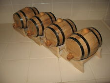 OAK BARRELS  (FOUR) 1 LITER FOR WHISKEY OR SPIRITS