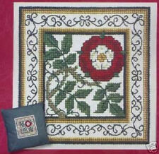 Textile Heritage HERALDIC ROSE Cross stitch Kit  Tudor Cushion Panel Picture OOP