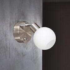 Wofi Led Wandleuchte Nois 1-flg Nickel Spot verstellbar Glas Kugel Weiß 5 Watt