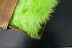 18X20'' Lime Green Faux Fur Newborn Nest Photography Fur ( Free Shipping!!! )