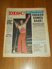 DISC AND MUSIC ECHO MAY 15 1971 JOE COCKER BLACK SABBATH BYRDS KATE TAYLOR