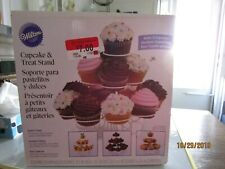 Wilton Cupcake & Treat Stand 13 Cupcakes White Wire Party Wedding Shower Box