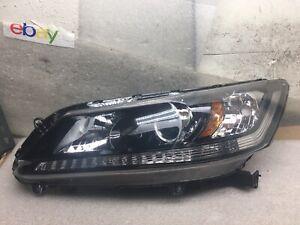 2013 2014 2015 Honda Accord Sedan Left Halogen Headlight Lamp #A360