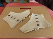 pair of old Canvas Spats for Mens Shoes