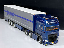 "DAF TRUCK WSI MODEL WITH CURTAINSIDE TRAILER ""SCHUITEMA"",01-2889,1:50 SCALE"