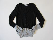 T by Alexander Wang Black & Gray Colorblock Button Front Cardigan Sweater S
